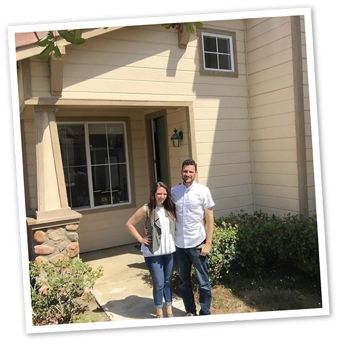 This is the day I became Bryan Bonwich, homeowner. Pictured - my wife and I.